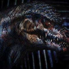Concept art of Godzilla