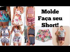 VEDA 11 Molde de Short passo a passo Alana Santos Blogger - YouTube