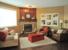 Living Room With Fireplace Layout model home monday. building and in-house design team: ivory homes