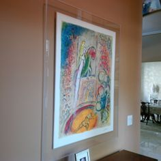 Floating acrylic wall frame Diy Our Customer Wanted This Chagall Print To Look Like It Was Floating On The Wall So We Went With Crystal Clear Prisma Acrylic Frame To Give It That Modern Backgrounds 17 Best Prisma Acrylic Frames Images Acrylic Frames Art Pieces