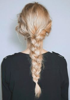 This bohemian messy braid is perfect for summer.