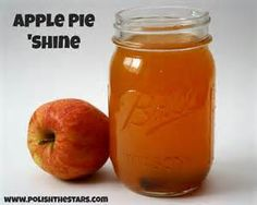 This recipe makes 1 gallon of apple pie moonshine. mason jars (8 pints = 1 gallon) 1/2 gal apple juice 1/2 gal apple cider 1/2 c brown sugar 1/2 c white sugar 1 tbl. apple pie spice 6 cinnamon sticks 4 c everclear 1 c goldschlager 1 c butterscotch schnapps 1 tbl. vanilla ext. Add first six ingredients into large pot and simmer for at least 20 minutes. Cool to room temperature, and remove cinnamon sticks. Then stir alcohol and vanilla ext. into it. Store for min. 2 weeks….