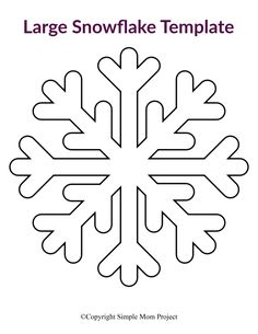 Click and print one or all of our 8 easy and free printable paper snowflake patterns! Perfect for a Frozen birthday party, simple snowflake coloring page or decorate the snowflake classroom activity. #snowflake #snowflaketemplate #coloringpage #winter #winteractivity #SimpleMomProject