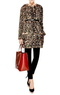 Printed Faux-Fur Coat by Nina Ricci - Moda Operandi