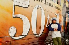#ChristianKane beside the #50to1themovietour bus.. dont know who to credit for this pic 3-20--2014 possibly Ariel Busbee picture for the New Mexico Entertainment magazine April Issue 2014 for the #50to1themovie.. and as part of the #50to1themovietour.. please keep credit when repinning...