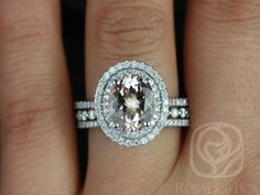 This wedding set is designed for those who love simple with a slight twist. This is a great way to stay away from the traditional round in a round halo! Oval halos are less traditional! Yay!  All stones used are only premium cut, fairly traded, and/or conflict-free! Our diamonds are always natural