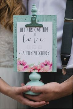 What would you choose as your official wedding hashtag? (Photography by Echo Photography & Emma Lee Photography via Wedding Chicks)
