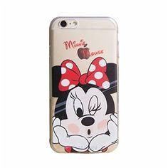 MaiJin Transparente TPU Funda Cover Carcasa Para Apple iPhone 6 / 6S 4,7 Pulgadas Minnie Mouse