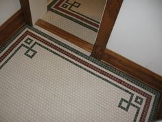 Our bathroom floor inspiration from the American Restoration Tile website.