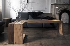 such an awesome idea for a sectional. No more fighting over a little coffee table