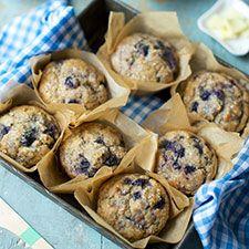 100% Whole Wheat Blueberry Muffins: King Arthur Flour