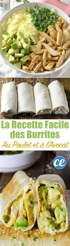 Quick and Easy Healthy Dinner Recipes - Chicken Avocado Burritos- Awesome Recipe. - Quick and Easy Healthy Dinner Recipes – Chicken Avocado Burritos- Awesome Recipes For Weight Loss - Think Food, I Love Food, Comida Latina, Easy Healthy Dinners, Dinner Healthy, Healthy Delicious Dinner Recipes, Healthy Dinner With Chicken, Cheap Healthy Food, Healthy Recipes Low Calorie