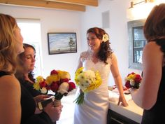 Bridal party in the Bridal suite main bathroom Bridal Suite, Diy Wedding, One Shoulder Wedding Dress, Rustic, Bathroom, Wedding Dresses, Party, Beautiful, Fashion