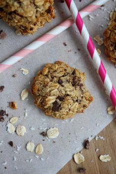 Coconut Choc Chip Oat Cookies