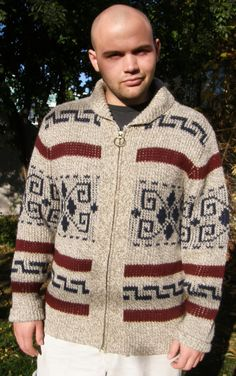 Rare Vintage Pendleton Dude Sweater The BIG LEBOWSKI Shawl Collar Zip Cardigan Jeff Bridges Men's L. $245.00, via Etsy. (note from Pendleton: the mix yarns make this one a very rare find, indeed)