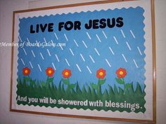 spring sunday school bulletin boards; I love this!