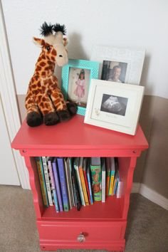 Refinish the little white book shelf...