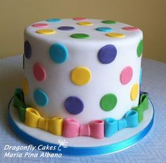 polka dots make me happy! (how i have my cake decorated every year)