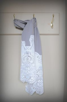 lace t-shirt scarf