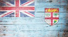 #Flag of Fiji  Flag of Fiji painted on grungy wood plank background