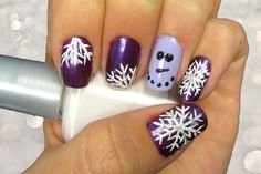 Show off a softer side of this snowy season with this feminine and fancy nail design.