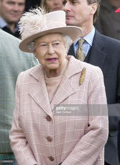 Queen Elizabeth II attends the annual Braemer Highland Games at The Princess Royal and Duke of Fife Memorial Park on September 7, 2013 in Braemar, Scotland.  (Photo by Mark Cuthbert/UK Press via Getty Images)