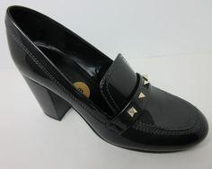 Marc Fisher Barla Women Gray Patent Leather Tailored Block Heel Dress Shoes 8 M #MarcFisher #PumpsClassics #AnyOccasion