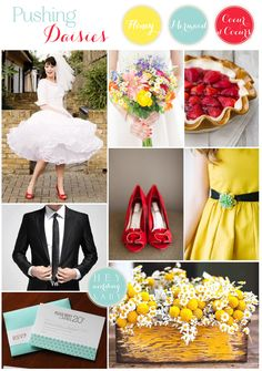 Pushing Daisies – Whimsical Wedding Inspiration in Primary Colors