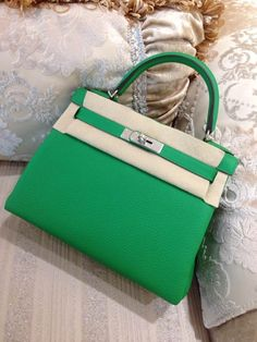 kelly bags green togo leather handbags women's fashion tote bags