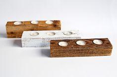 Candle holder. Idea, handpainted, handmade, wood, wood crafts, reclaimed, diy, decor, diyromania, shabby chic