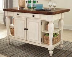 Kitchen Remodel On A Budget Marsilona Kitchen Island, White Budget Kitchen Remodel, Kitchen On A Budget, Kitchen Remodeling, Kitchen Ideas, Dining Room Server, Dining Set, Dining Table, French Country Kitchens, Tuscan Kitchens