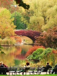 Central Park em Nova York - Cores de Outono
