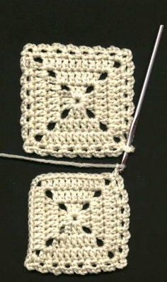 Flat Braid Square Joining Method  . (Ch 3, skip next st, sc in the next st)  all around first square, working (ch 3, sc) 2 times in each corner.  2. Second square - Work as for first square on two sides, stopping at one sc in a corner.  3. Ch 2, drop yarn, insert hook from top into any corner on the first square