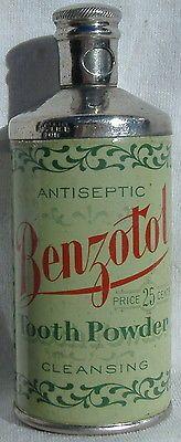 Benzotol-Tooth-powder-Tin-J-T-Finlen-Drug-Co-Butte-Montana