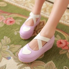 Girly Girl Dresses Wedges on Girly Girl の To Alice.Girly Lolita Sweet Heart Bandage Wedges Preppy Cos Shoes the best choice for you to go out or work !