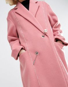 Asos brilliant coat takes the pin...eh...pun about ol' lady wear