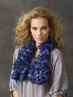 Frilly Knit Scarf Gift knit