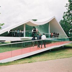 Serpentine Gallery Pavilion 2003 by Brazilian architect Oscar Niemeyer
