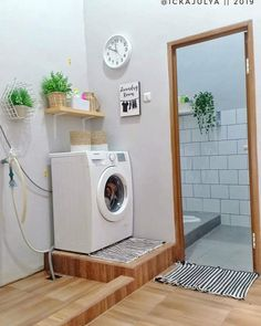 Outdoor Laundry Rooms, Modern Laundry Rooms, Laundry Room Organization, Laundry Room Design, Laundry Organizer, Home Design Living Room, Home Design Decor, Home Office Decor, Home Decor Bedroom