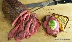 Make a delicious and tender deli-style roast beef with a cheap cut of meat. The perfect ingredient for a deli roast beef sandwich. Deli Roast Beef Recipe, Roast Beef Cuts, Rare Roast Beef, Best Roast Beef, Sliced Roast Beef, Roast Beef Sandwiches, Roast Recipes, Cooking Recipes, Panini Recipes