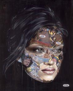 Sandra Chevrier La Cage et L'ange, 2016 Mixed media on canvas 122 x 152 cm Unique