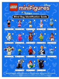 Identification Guide to Lego Disney Minifigure Blind Bag Codes « Pop Critica Lego Disney, Disney Fun, Disney Crafts, Lego Minifigure Display, Lego Minifigs, Disneyland Trip, Disney Trips, Disney Minifigures, Swimming Pools