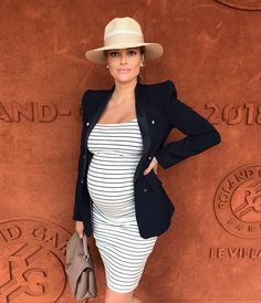 OOTD: The looks seen at Roland Garros 2018 - Heart of Articho - # . Cute Maternity Outfits, Stylish Maternity, Pregnancy Outfits, Maternity Wear, Maternity Fashion, Baby Bump Style, Mommy Style, Look Fashion, Fashion Outfits
