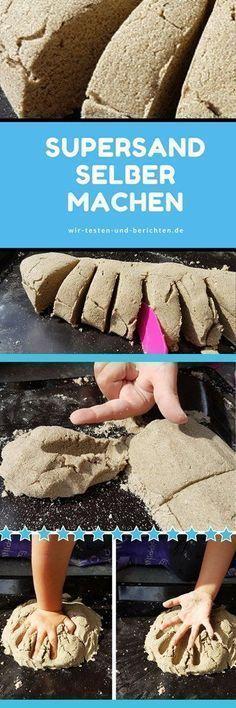 Anleitung für selbst gemachten Supersand (statt Kineticsand)