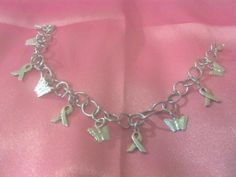 Silver Butterfly everything charm bracelet and matching necklace in Crafty and Sassy Girls