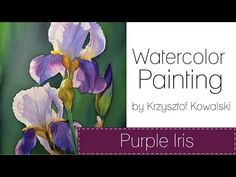 How watercolors behave on metal, plastic and porcelain palette. Watercolor painting. - YouTube
