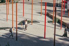 Masmo Solhagaparken by LAND arkitektur « Landscape Architecture Platform Pavilion Architecture, Space Architecture, Contemporary Landscape, Landscape Design, Shattered Glass, Garden Features, Raised Garden Beds, Design Elements, Cool Designs
