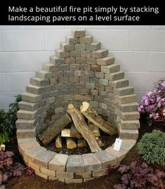 Stack Pavers to make a Firepit...these are awesome DIY Garden & Yard Ideas! #diy #yard #OutdoorsIdeas