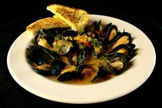 Vimy's Mussels, served with coconut curry or spicy miso sauce.(At Vimy's Lounge & Grill in the Waterton Lakes Lodge Resort.)