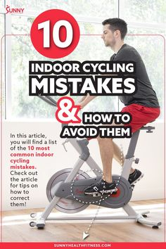 Indoor cycling is an unbelievably fun way to get a heart-pumping, calorie-burning cardiovascular workout! But there are a few common mistakes that may be holding you back from having an effective and safe ride. Above you'll find 10 top mistakes during indoor cycling workouts, check out the article to learn how to correct them. #sunnyhealthfitness #cycling #indoorcycling #indoorcyclingmistakes #indoorcyclingtips Cycling Tips, Cycling Workout, Health And Fitness Articles, Health Fitness, Posture Correction, Indoor Cycling, Good Posture, 10 Top, Pumping